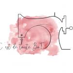 Couture - logo - machine à coudre - trait fin -